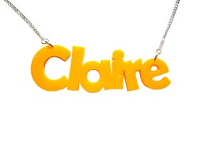 Image of Funky Personalised Acrylic Name Necklace - As Seen in Top of the Pops Magazine