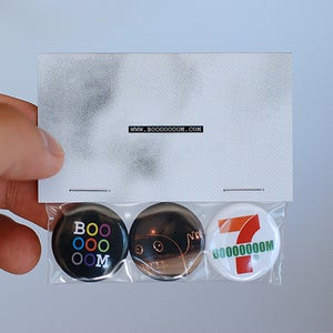 Image of Super Fantastic Booooooom Button 3-Pack!