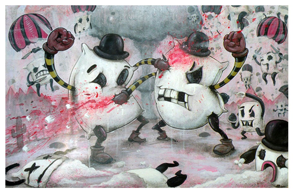 """Image of """"Pillow Fight!!!"""" Poster Print ~ Limited Edition"""