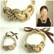 Image of Rope Necklace - Gold and Taupe