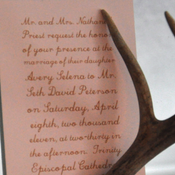 Image of Marital Bliss invitation suite