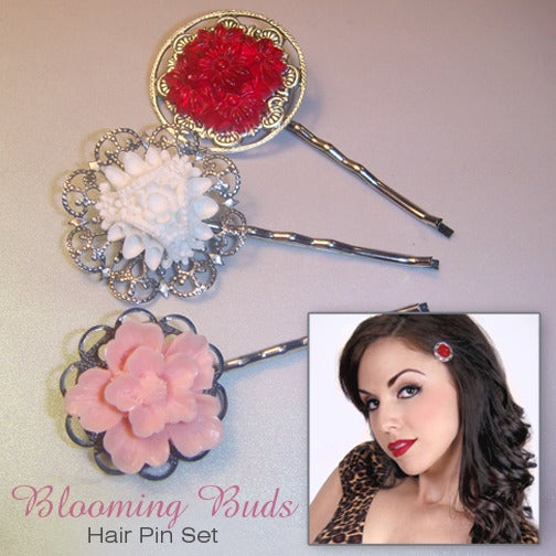 Image of Blooming Buds Hair Pin Set