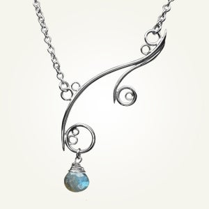 Image of Greek Isle Necklace with Labradorite, Sterling Silver