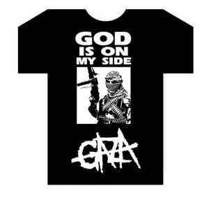 Image of God Is On My Side Black T-shirt