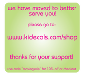 Image of NEW SITE www.kidecals.com/shop