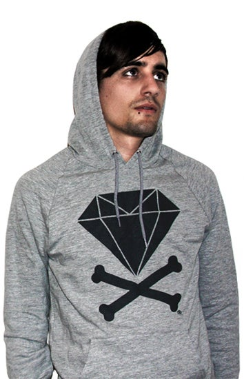 Image of Diamond & Crossbones Hoodie (Heather/Dark Grey)