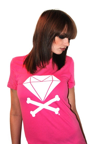 Image of Diamond & Crossbones (Fuschia)