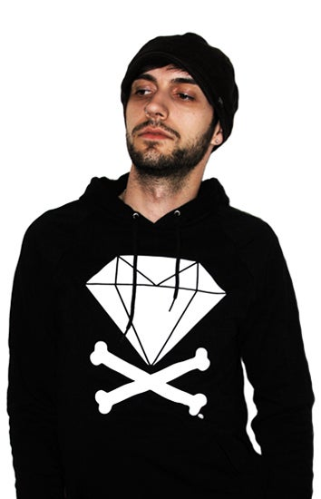 Image of Diamond & Crossbones Hoodie (Black)