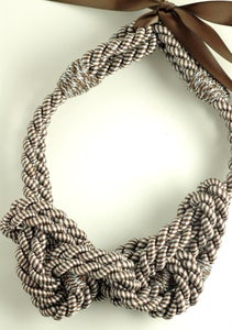 Image of Rope Necklace - Slate Blue and Chocolate (Limited Edition)