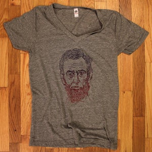 Image of Abe Lincoln multicolor v-neck
