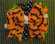 Image of Batty for Halloween Boutique Bow