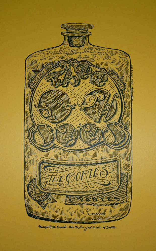 Image of Thee Oh Sees - Letterpress Poster