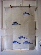 Image of Tea Towel Clouds 100% Linen