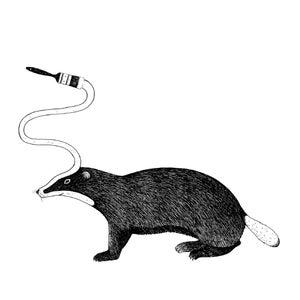 Image of Badger screenprint