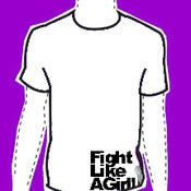 Image of fight like a girl! tee
