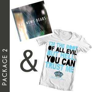 """Image of Package 2: """"Root Of All Evil"""" T-Shirt & """"Prospects"""" CD"""