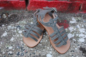 Image of Greek Gladiator in Suede Grey