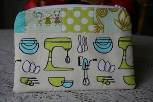 Image of Patchwork Zippered Pouch #1