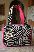 Image of Zebra Print & Hot Pink Tote Bag