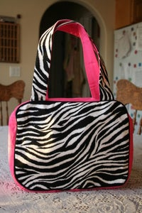 Image of Zebra Print & Hot Pink Tote Bag
