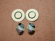 Image of Vintage Enamel Clip-On Earring Set