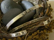 """Image of """"And She Lived Happily Ever After"""" sterling cuff bracelet"""