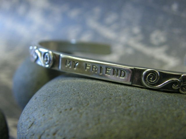 """Image of """"My Friend~You are the Sister I wish I had"""" sterling bracelet"""