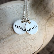 Image of Sterling Silver Two Teeny Tag Necklace