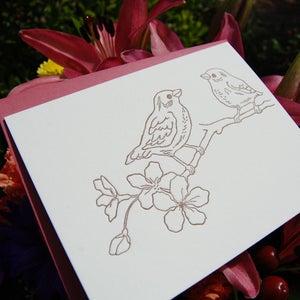 Image of Letterpress Card Set: Songbirds