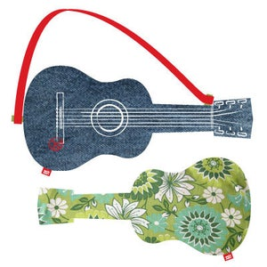 """Image of acoustic guitar """"green flowers"""""""