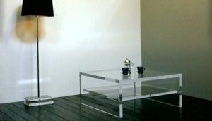 Image of Acrylic Coffee Table UK / With Shelf
