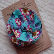Image of messy flower hair clip-retro brights