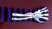 Image of Purple 2 sided Custom skeleton Glove