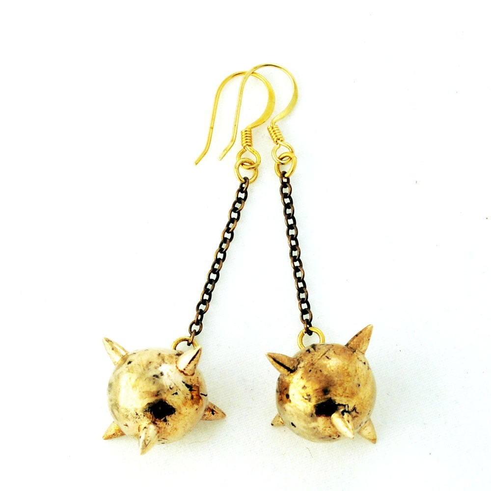 Image of Short Mace Earrings