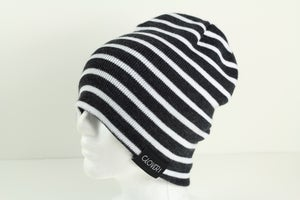 Image of Tight knit stripe - charcoal/white