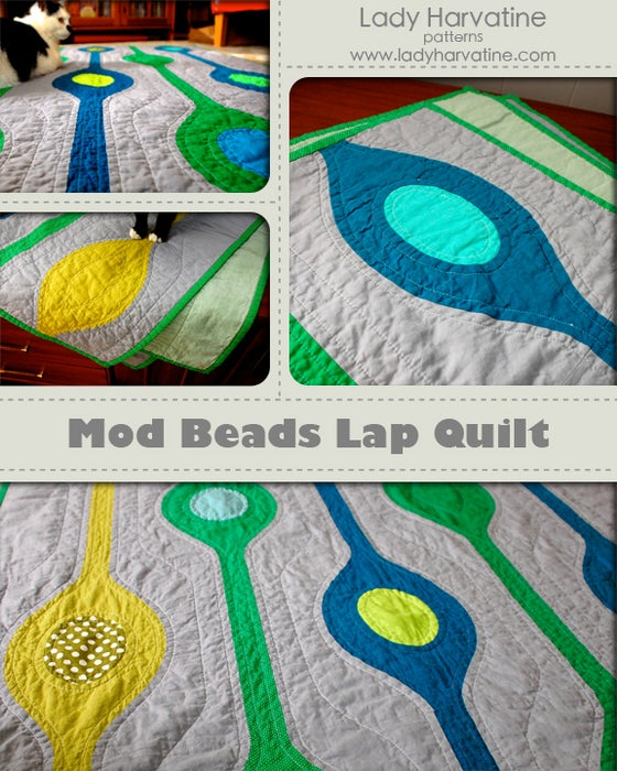 Image of Mod Beads Lap Quilt PDF Pattern