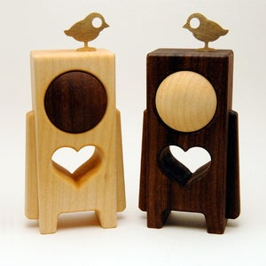 "Image of HEARTWOODS - 3.5"" Wood Toy by pepe (No.12/24 & No.13/24)"