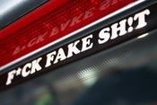 "Image of *PREORDER* F*CK FAKE SH!T - 6"" Vinyl Decal (White)"