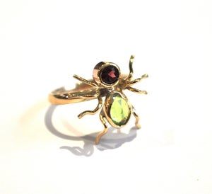 Image of Peridot Victorian spider ring