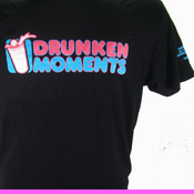 Image of BLACK DRUNKEN MOMENTS LOGO T