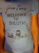 Image of Welcome To Duluth t-shirt (Ladies in Sky Blue or White)