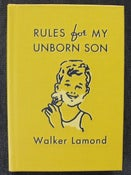 Image of 'Rules for My Unborn Son' [Hardcover, Signed by Author]