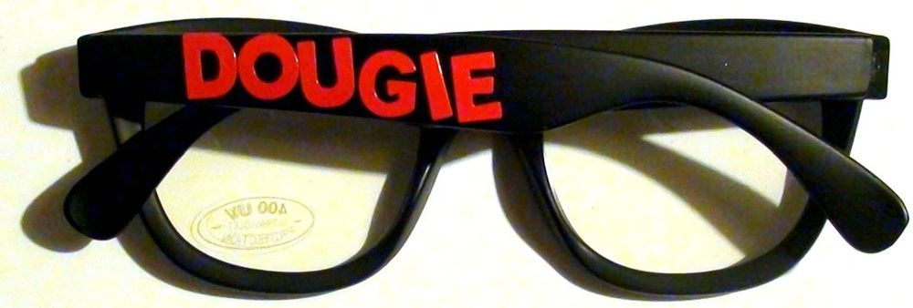 Image of BLACK DOUGIE GLASSES WIT RED PRINT