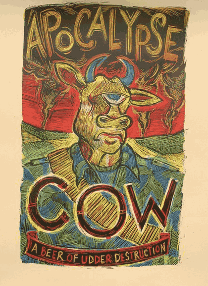 Image of Apocalypse Cow poster 3 Floyds