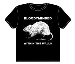 """Image of BLOODYMINDED """"Within The Walls"""" (rat) T-shirt"""