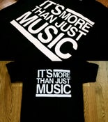 "Image of ""More Than Just Music"" Black Tee"
