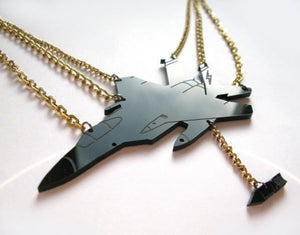 Image of F1-15 Fighter Jet Necklace