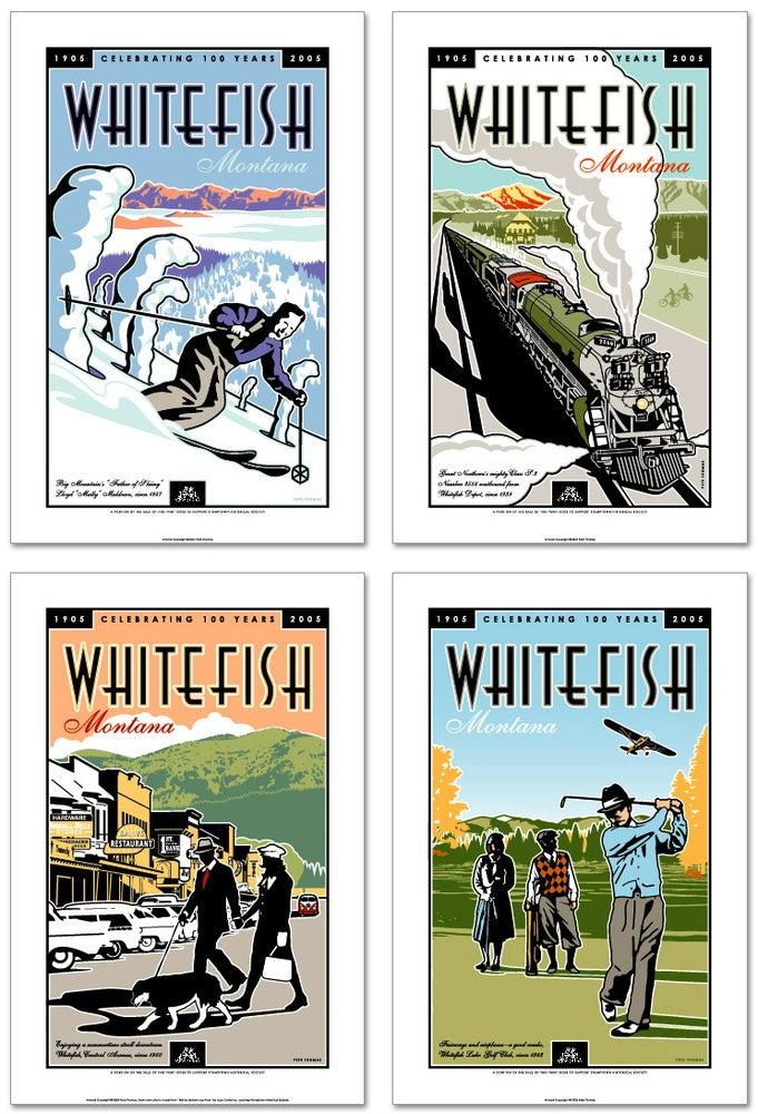 Image of Whitefish Centennial - Ski Poster