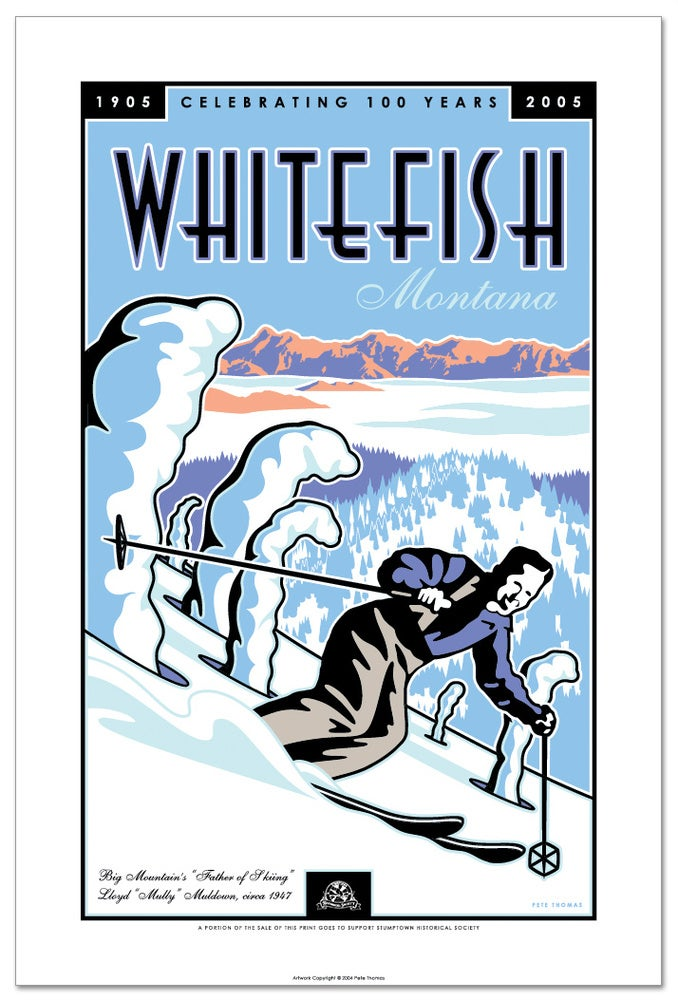 Image of Whitefish Centennial - Limited Edition Ski Art Print