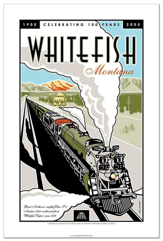 Image of Whitefish Centennial - Limited Edition Train Art Print